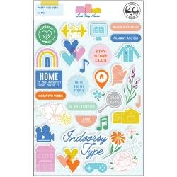*pre-order*  Pinkfresh Puffy Stickers Let's Stay Home