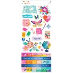 Paige Evans Go The Scenic Route Cardstock Stickers 86/Pkg