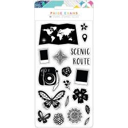 Paige Evans Go The Scenic Route Acrylic Stamps 19/Pkg