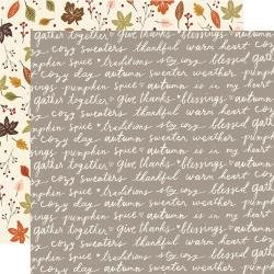 Simple Stories Cozy Days Double-Sided Cardstock 12X12 Harvest Wishes