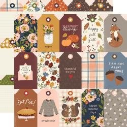 Simple Stories Cozy Days Double-Sided Cardstock 12X12 Tags