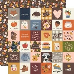 Simple Stories Cozy Days Double-Sided Cardstock 12X12 2X2 Elements
