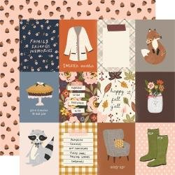 Simple Stories Cozy Days Double-Sided Cardstock 12X12 3X4 Elements