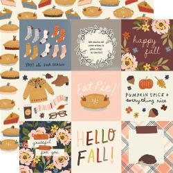 Simple Stories Cozy Days Double-Sided Cardstock 12X12 4X4 Elements