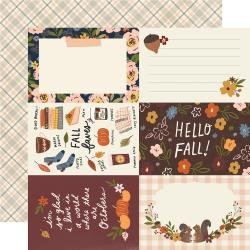 Simple Stories Cozy Days Double-Sided Cardstock 12X12 4X6 Elements