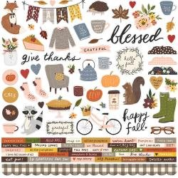 Simple Stories Cozy Days Cardstock Stickers 12X12 Combo