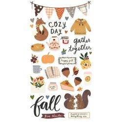 Simple Stories Cozy Days Chipboard Stickers 6X12