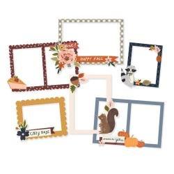 Simple Stories Cozy Days Layered Chipboard Frames Die-Cuts 6/Pkg