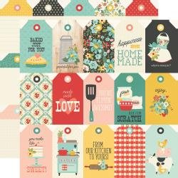 Simple Stories Apron Strings Double-Sided Cardstock 12X12 Tags