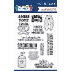 *pre-order*  PhotoPlay Photopolymer Stamp The New Normal Phrase