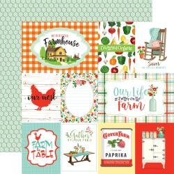 Carta Bella Farm To Table Double-Sided Cardstock 12X12 Journaling Cards