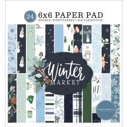 Carta Bella Double-Sided Paper Pad 6X6 24/Pkg Winter Market