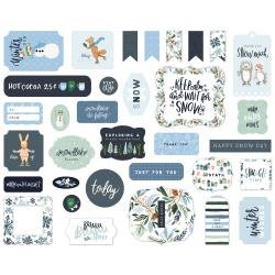 Carta Bella Cardstock Ephemera 33/Pkg Icons, Winter Market