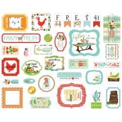 Carta Bella Cardstock Ephemera 33/Pkg Icons, Farm To Table