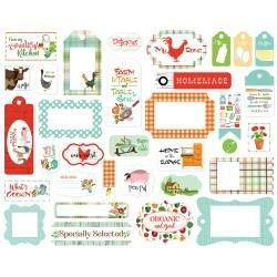 Carta Bella Cardstock Ephemera 33/Pkg Frames & Tags, Farm To Table