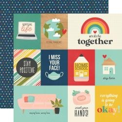 Simple Stories Quarantined Double-Sided Cardstock 12X12 Social Distancing