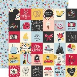 Simple Stories Say Cheese Main Street Double-Sided Cardstock 12X12 2X2 Elements