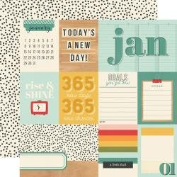 Simple Stories Hello Today Double-Sided Cardstock 12X12 January