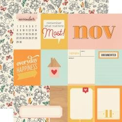 Simple Stories Hello Today Double-Sided Cardstock 12X12 November