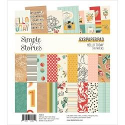 Simple Stories Double-Sided Paper Pad 6X8 24/Pkg Hello Today