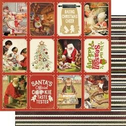 Christmas Greetings Double-Sided Cardstock 12X12 #5 Cookies & Baking 3X4 Cut-Aparts