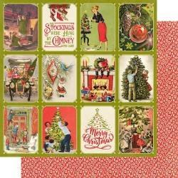 Christmas Greetings Double-Sided Cardstock 12X12 #6 Deck The Halls 3X4 Cut-Aparts