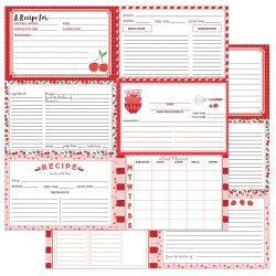 PhotoPlay Recipe Cards DS Cardstock 12X12 Happy Fruit -Red