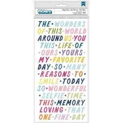 AC PP Paige Evans Wonders Thickers Stickers 329/Pkg Happy Day Phrases