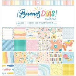 American Crafts Single-Sided Paper Pad 12X12 48/Pkg Obed Marshall Buenos Dias