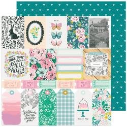 CP Maggie Holmes Garden Party Double-Sided Cardstock 12X12 Happy Day
