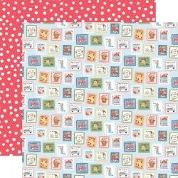 Carta Bella Summer Double-Sided Cardstock 12X12 Summer Stamps