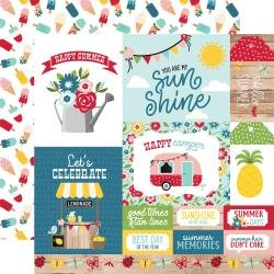Echo Park A Slice Of Summer Double-Sided Cardstock 12X12 Multi Journaling Cards