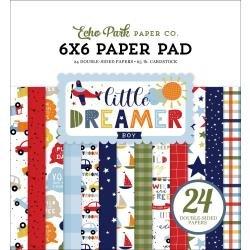 Echo Park Double-Sided Paper Pad 6X6 24/Pkg Little Dreamer Boy