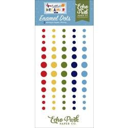 Echo Park Adhesive Enamel Dots 60/Pkg Little Dreamer Boy