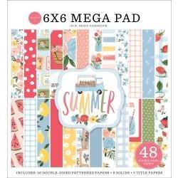 Carta Bella Double-Sided Mega Paper Pad 6X6 48/Pkg Summer