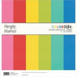 Simple Stories Color Vibe Double-Sided Paper Pack 6/Pkg Summer