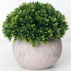 Foundations Decor Tiered Tray Add Ons Stone Pot & Foliage