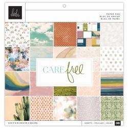 Heidi Swapp Single-Sided Paper Pad 12X12 36/Pkg Care Free