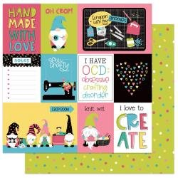 PhotoPlay Crafting With My Gnomies Double-Sided Cardstock 12X12 Oh Crop