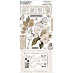 49 & Market Vintage Artistry Essentials Chipboard Stickers 6X12-