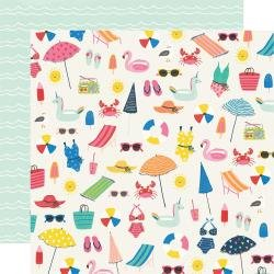 Simple Stories Sunkissed Double-Sided Cardstock 12X12 Make A Splash