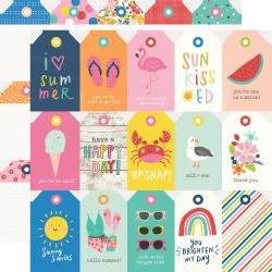 Simple Stories Sunkissed Double-Sided Cardstock 12X12 Tags