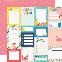 Simple Stories Sunkissed Double-Sided Cardstock 12X12 Journal Elements