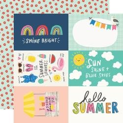 Simple Stories Sunkissed Double-Sided Cardstock 12X12 4X6 Elements