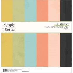 Simple Stories Basics Double-Sided Paper Pack 12X12 6/Pkg Simple Vintage Farmhouse Garden
