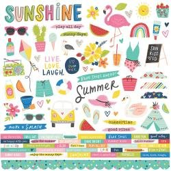 Simple Stories Sunkissed Cardstock Stickers 12X12 Combo