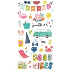 Simple Stories Sunkissed Chipboard Stickers 6X12