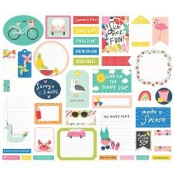 Simple Stories Sunkissed Bits & Pieces Die-Cuts -Journal