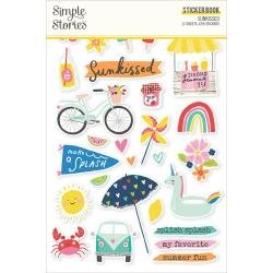 Simple Stories Sticker Book 12/Sheets Sunkissed,