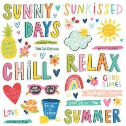 Simple Stories Sunkissed Foam Stickers